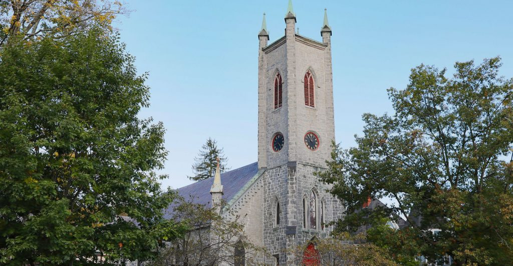 Saint James Place clock tower great barrington ma