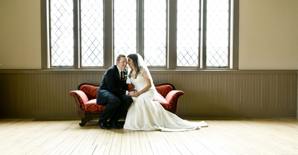 Bridal couple at Saint James Place