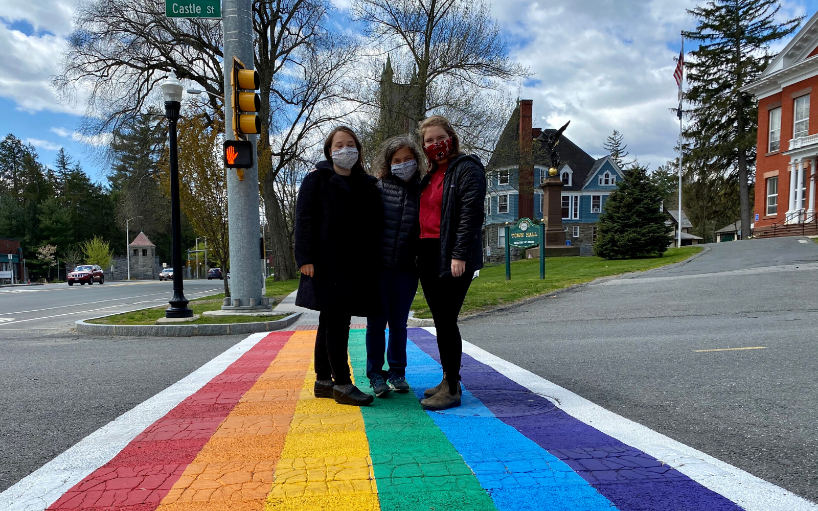Great Barrington Rainbow Sidewalk near Saint James Place